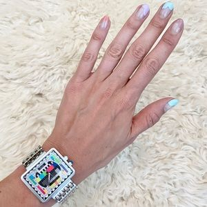 Dolce & Gabbana Retro TV Silver Band Unisex Watch